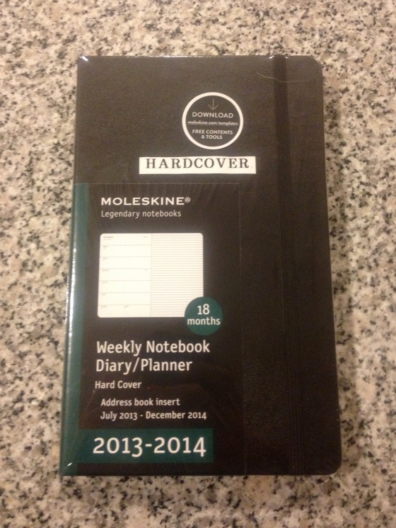 My new Moleskine