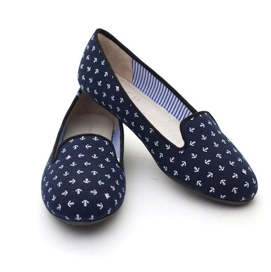 Tropez Cotton Anchor Flats