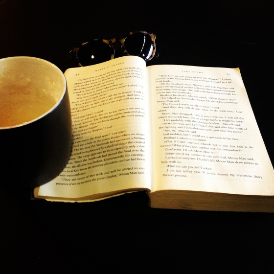 Coffee and a good book make for an excellent afternoon.