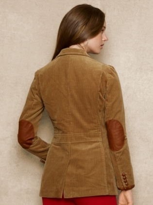 Leather Patch Courderoy Jackey- Ralph Lauren