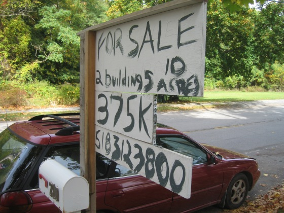 It was also for sale, at a great price! (if you need 10acres)