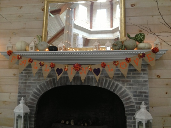 The fireplace decorations