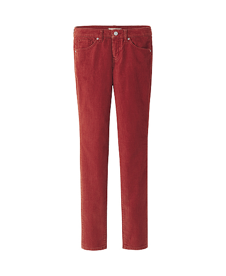Uniqlo Skinny (i have these in emerald green)